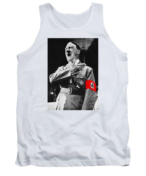 Adolf Hitler Ranting 1  Tank Top by David Lee Guss