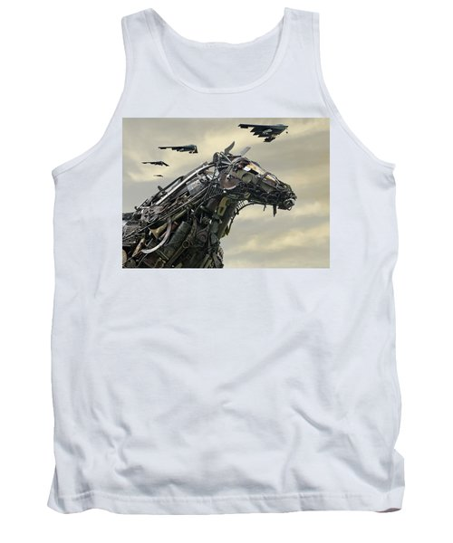 Advance Of The Machines Tank Top by Christopher McKenzie