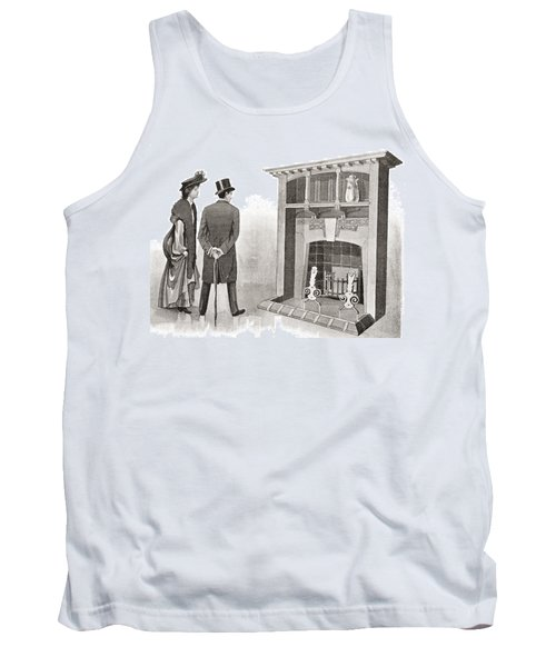 Advertisement For A Fireplace. From The Tank Top