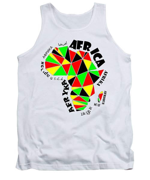 Africa Continent Tank Top