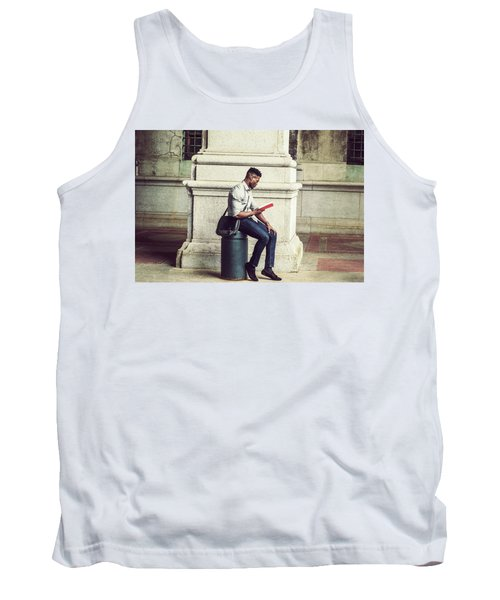 African American College Student Studying In New York Tank Top