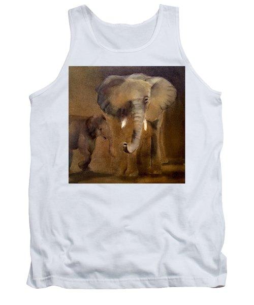 African Elephant Tank Top