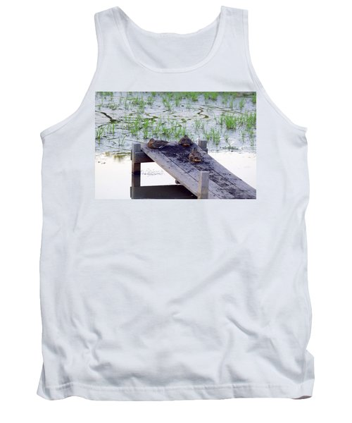 Tank Top featuring the photograph Afternoon Rest by Deborah  Crew-Johnson