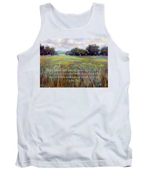 Afternoon Serenity With Bible Verse Tank Top