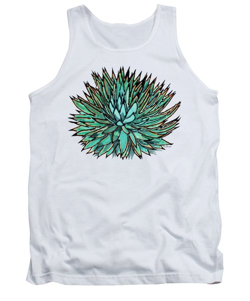 Agave - Spikey Blue With Orange Edges Tank Top