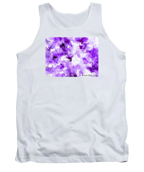 Tank Top featuring the painting Ain't Sweating The Little Things by Holley Jacobs