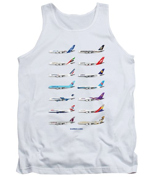 Airbus A380 Operators Illustration Tank Top