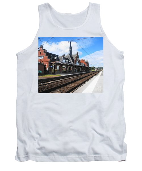 Tank Top featuring the photograph Albert Train Station, France by Therese Alcorn
