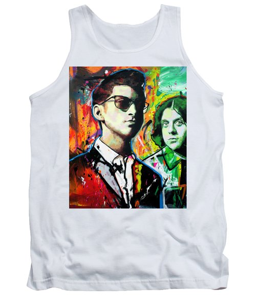Tank Top featuring the painting Alex Turner by Richard Day
