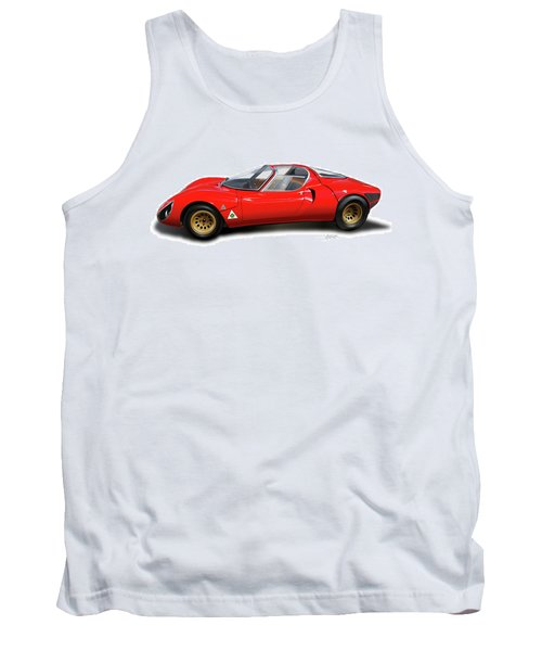 Alfa Romeo 33 Stradale 1967 Tank Top by Alain Jamar