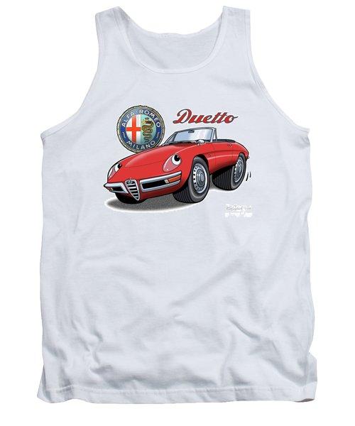Alfa Romeo Duetto Cartoon Tank Top