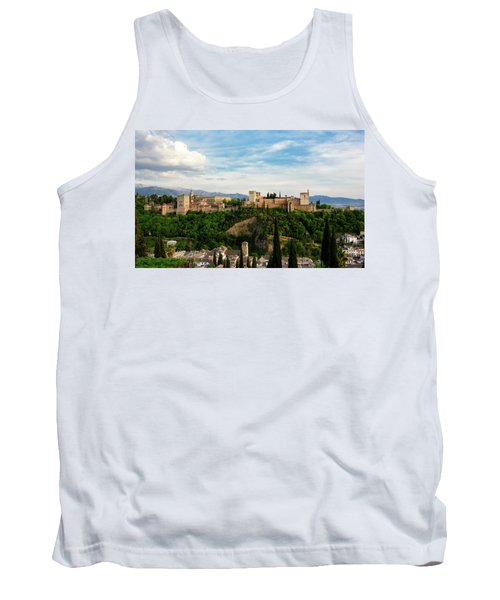 Alhambra In The Evening Tank Top by Marion McCristall