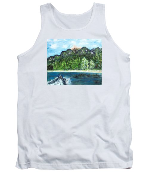 Alice Tubing On Hungry Horse  Reservoir Tank Top