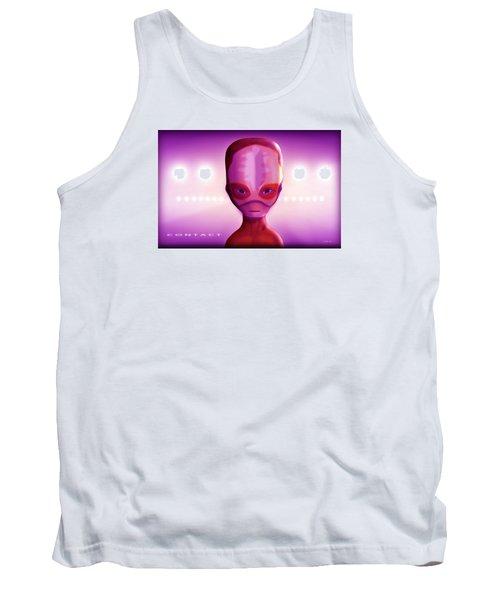 Tank Top featuring the digital art Alien Contact by John Wills