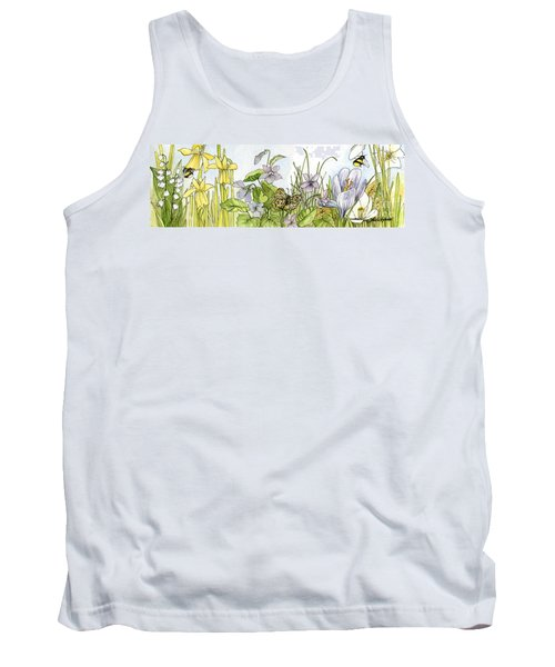 Tank Top featuring the painting  Alive In A Spring Garden by Laurie Rohner