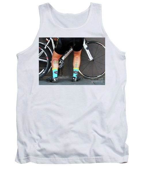 Tank Top featuring the photograph All Star Cyclist by Joe Jake Pratt