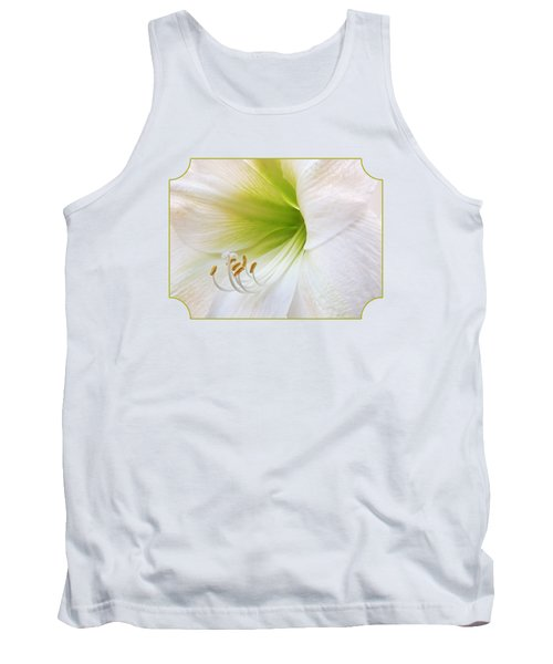 Alluring Amaryllis Tank Top by Gill Billington