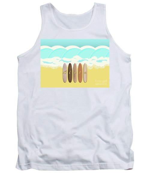 Aloha Surf Wave Beach Tank Top