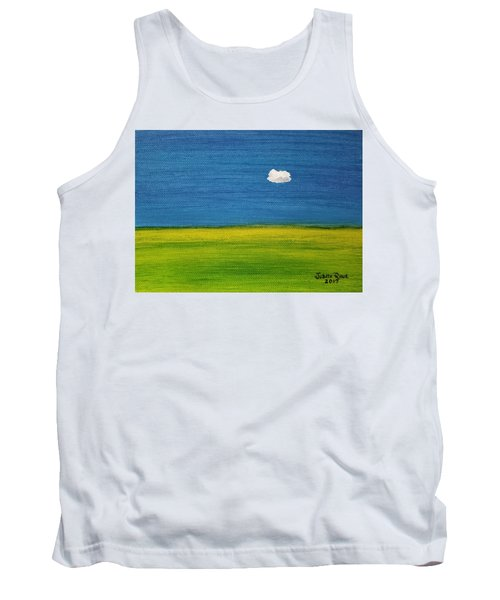 Tank Top featuring the painting Alone And Fine by Judith Rhue