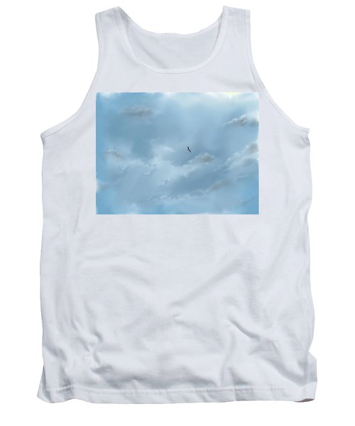 Tank Top featuring the digital art Alone by Darren Cannell