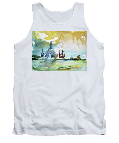 Along The Chao Phaya River Tank Top by Tom Simmons