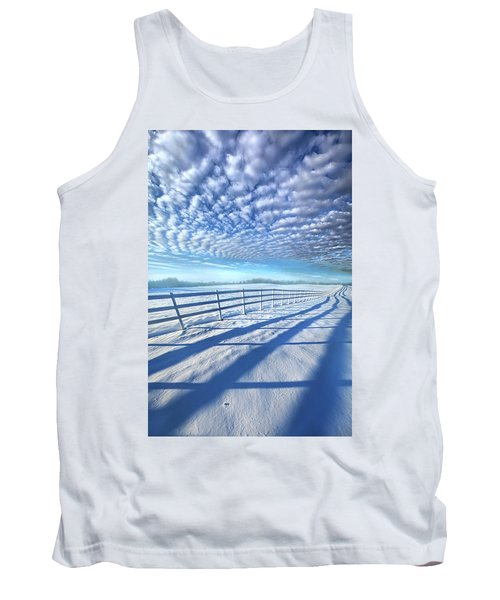 Tank Top featuring the photograph Always Whiter On The Other Side Of The Fence by Phil Koch