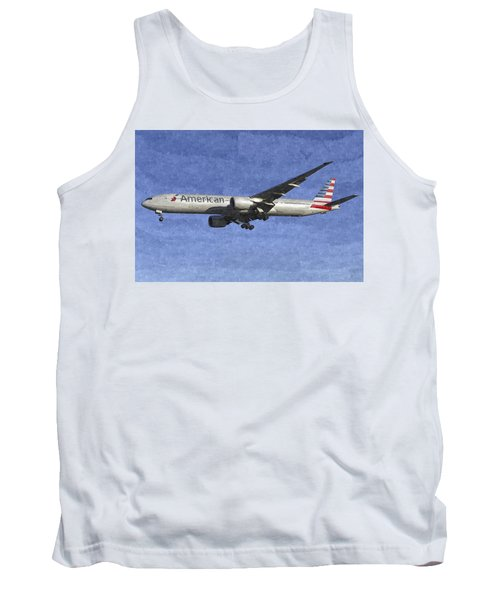 American Airlines Boeing 777 Aircraft Art Tank Top