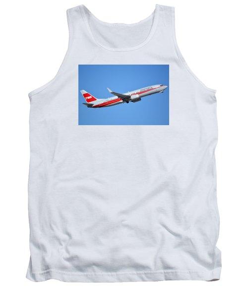 American Boeing 737-823 N915nn Retro Twa Phoenix Sky Harbor January 12 2015 Tank Top by Brian Lockett