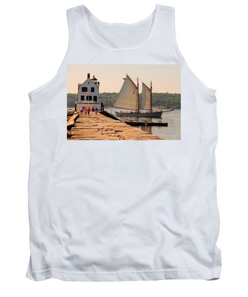 American Eagle At The Lighthouse Tank Top