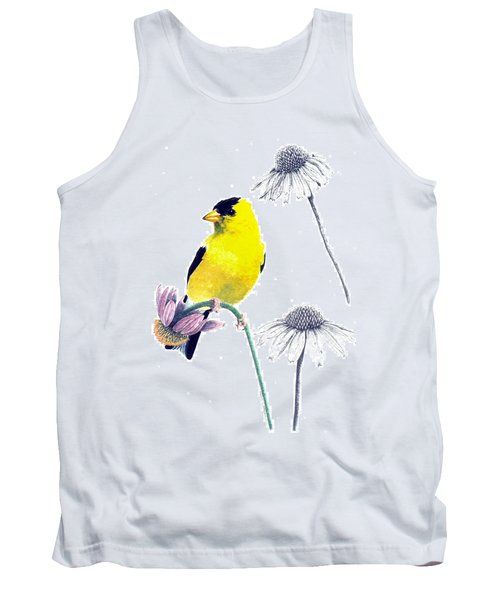 American Goldfinch On Coneflowers Tank Top