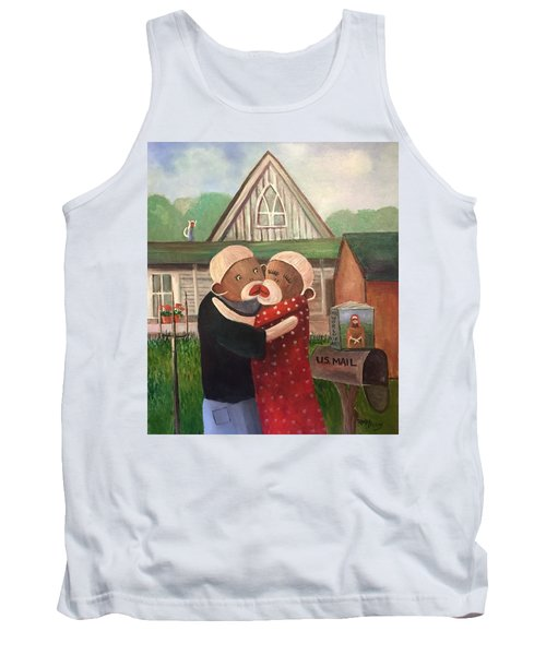 American Gothic The Monkey Lisa And The Holler Tank Top
