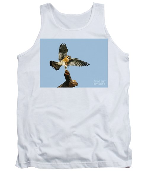 American Kestrel With A Snack Tank Top