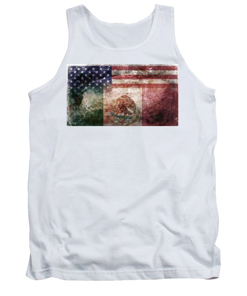 American Mexican Tattered Flag  Tank Top