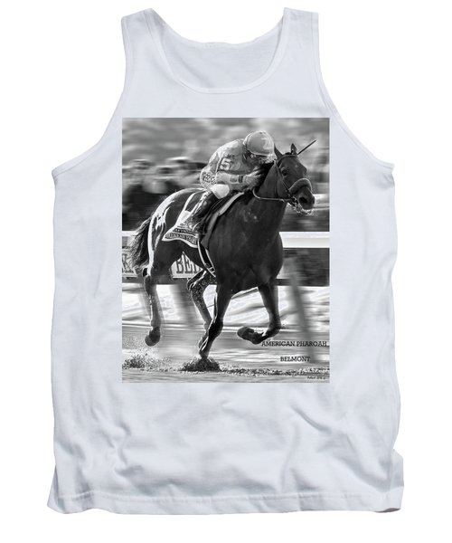 American Pharoah And Victor Espinoza Win The 2015 Belmont Stakes Tank Top by Thomas Pollart