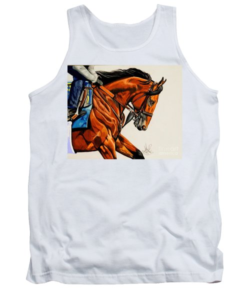 American Pharoah - Triple Crown Winner In White Tank Top