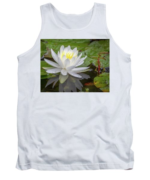American White Water Lily Tank Top
