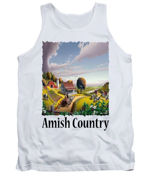 Amish Country - Appalachian Blackberry Patch Country Farm Landscape 2 Tank Top