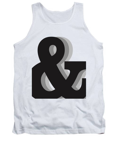 Ampersand - And Symbol 1 - Minimalist Print Tank Top