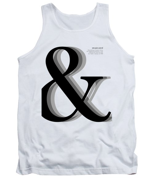 Ampersand - And Symbol - Minimalist Print Tank Top