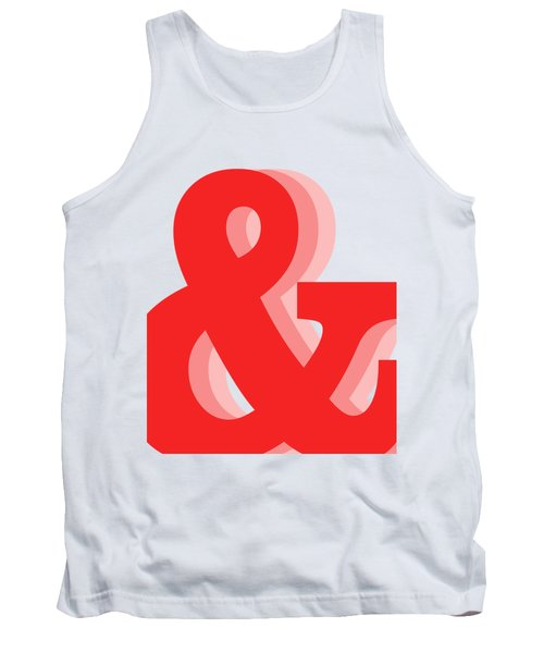 Ampersand - Red - And Symbol - Minimalist Print Tank Top