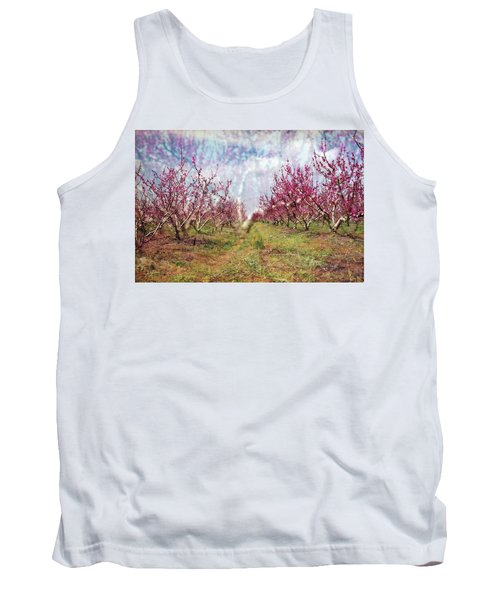 An Orchard In Blossom In The Golan Heights Tank Top