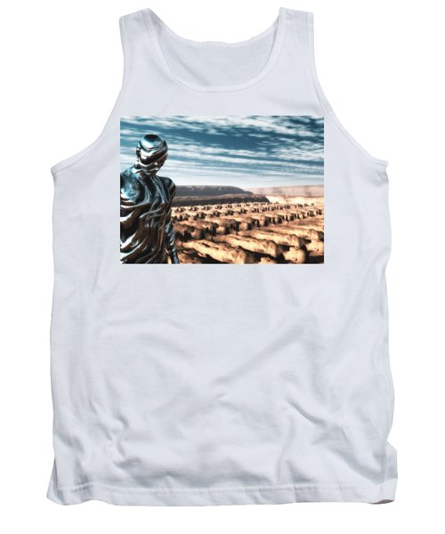 Tank Top featuring the digital art An Untitled Future by John Alexander