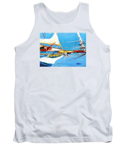 Tank Top featuring the painting Anchored 2 by Marti Green