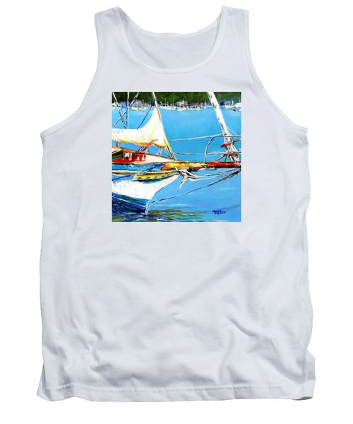 Tank Top featuring the painting Anchored by Marti Green