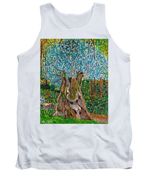 Ancient Olive Tree Tank Top by Valerie Ornstein
