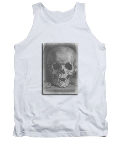 Ancient Skull Tee Tank Top by Edward Fielding