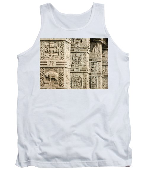 Ancient Temple Carvings Tank Top