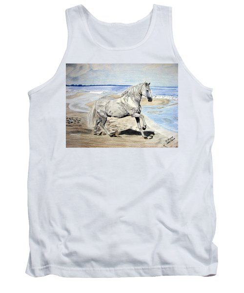 Andalusian Horse Tank Top by Melita Safran