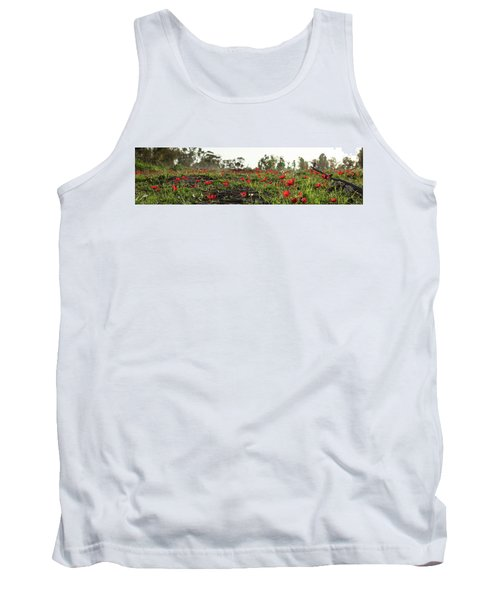 Tank Top featuring the photograph Anemones Forest Panorama by Yoel Koskas