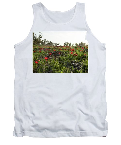 Tank Top featuring the photograph Anemones Forest by Yoel Koskas